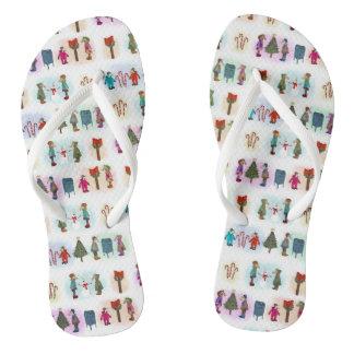 Cozy Kid Unicorns Pattern Flip Flops