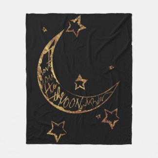 Cozy Moon n' Back Fleece Blanket