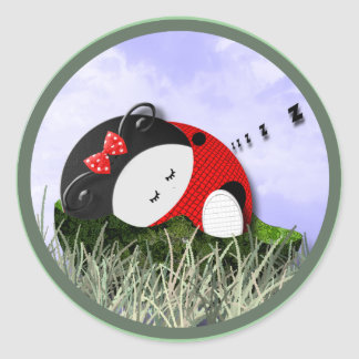 Cozy Nap Round Sticker