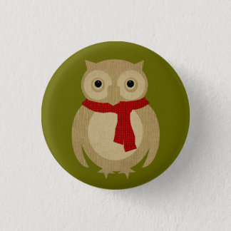 Cozy Owl Button