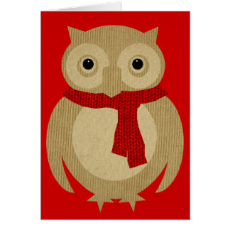 Cozy Owl Christmas Card