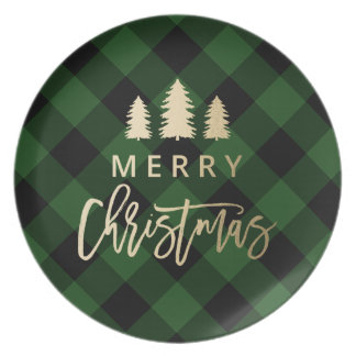 Cozy Plaid | Merry Christmas Dinner Plate