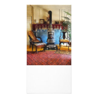 Cozy Victorian Parlor Customized Photo Card