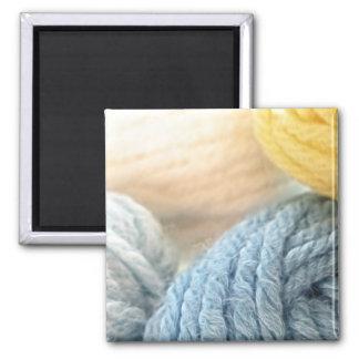 Cozy Yarn Square Magnet