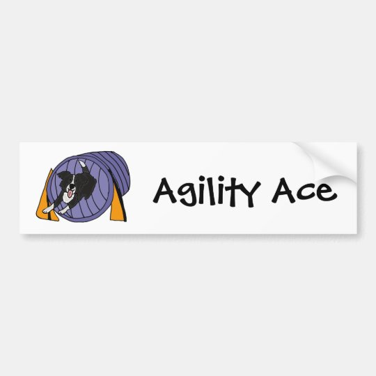 CP- Dog Agility Tunnel Cartoon Bumper Sticker