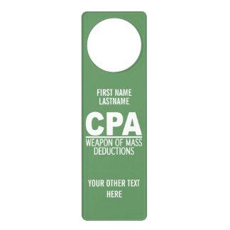 CPA custom color door hanger