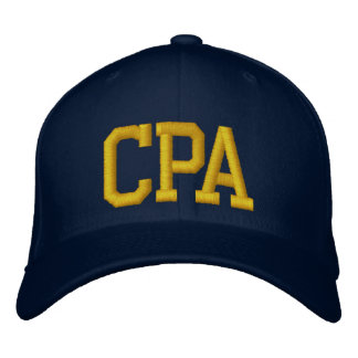 CPA EMBROIDERED HAT