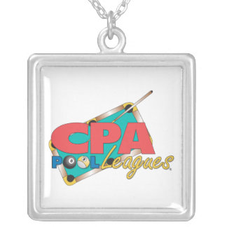 CPA Logo Designs Silver Plated Necklace