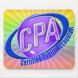CPA ORB SWOOSH LOGO CERTIFIED PUBLIC ACCOUNTANT MOUSE MAT