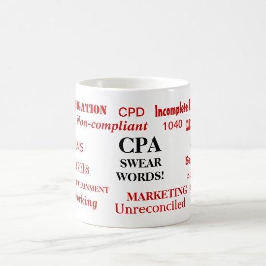 CPA Swear Words! A Great CPA Joke Coffee