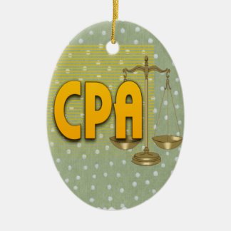 CPA with SCALES LOGO CERTIFIED PUBLIC ACCOUNTANT Christmas Ornament