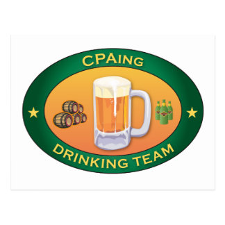 CPAing Drinking Team Postcard
