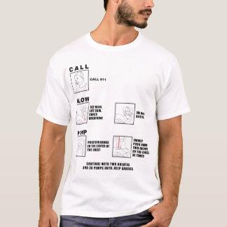 CPR Instructions Running Shirt