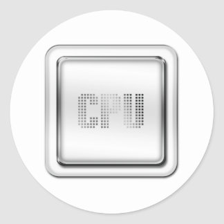 CPU ROUND STICKER