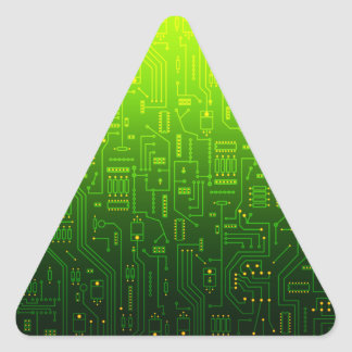 cpu triangle triangle sticker