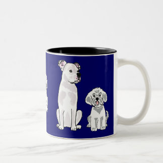 CR- Bichon Frise and American Bulldog Mug
