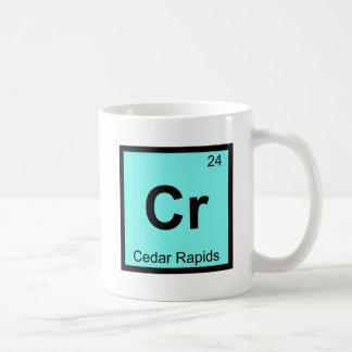 Cr - Cedar Rapids Iowa Chemistry Periodic Table Basic White Mug