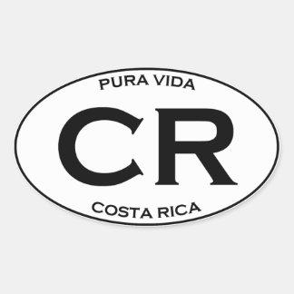 CR - Costa Rica Oval Sticker