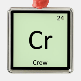 Cr - Crew Sports Chemistry Periodic Table Symbol Christmas Ornament