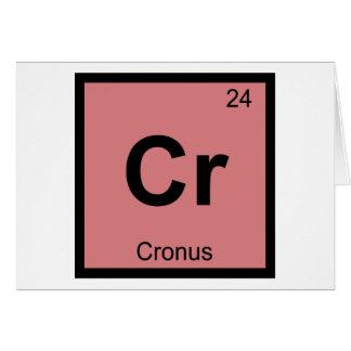 Cr - Cronus Titan Chemistry Periodic Table Symbol Greeting Card