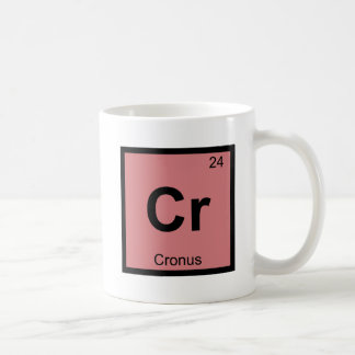 Cr - Cronus Titan Chemistry Periodic Table Symbol Classic White Coffee Mug