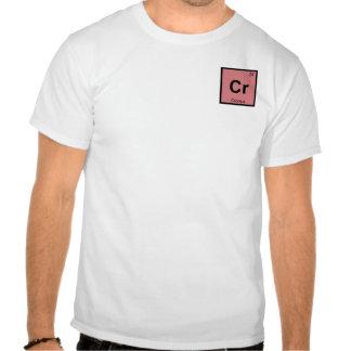Cr - Cronus Titan Chemistry Periodic Table Symbol Tee Shirts
