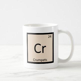 Cr - Crumpets Chemistry Periodic Table Symbol Basic White Mug