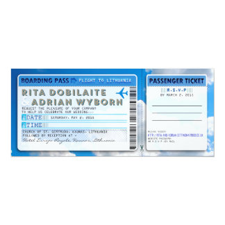 cr for Rita and Adrian 10 Cm X 24 Cm Invitation Card