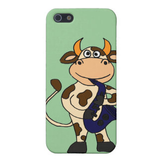 CR- Funny Cow Playing Saxophone Cartoon Cover For iPhone 5/5S