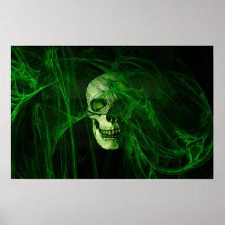 Cr�ne in the green fum�e - print