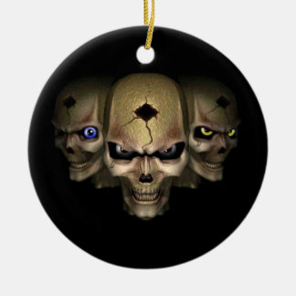 Cr�nes with the eyes fluo - christmas ornament