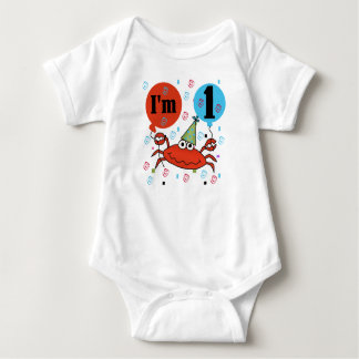 Crab 1st Birthday Baby Bodysuit