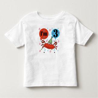Crab 3rd Birthday Toddler T-Shirt