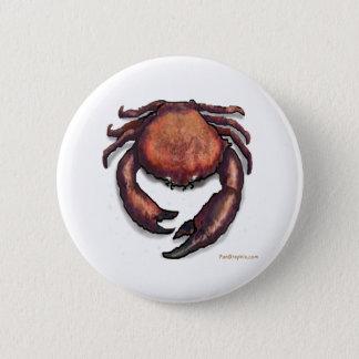 Crab 6 Cm Round Badge