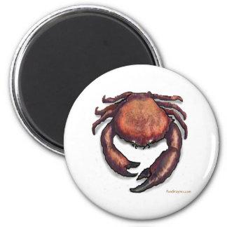 Crab 6 Cm Round Magnet