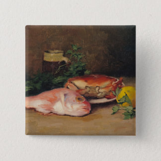 Crab and Red Mullet 15 Cm Square Badge