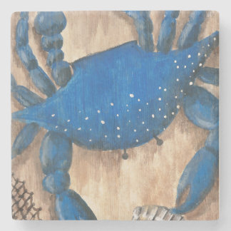 Crab and Scallop Shell Stone Coaster
