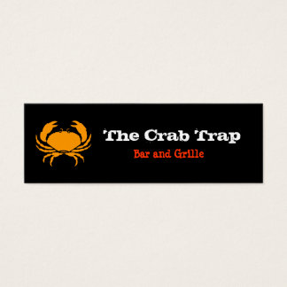 Crab and Seafood Restaurants Mini Business Card