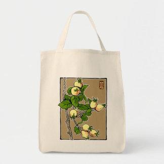 Crab Apple Block Print Tote Bag