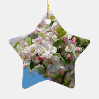 Crab apple blossom ceramic star decoration