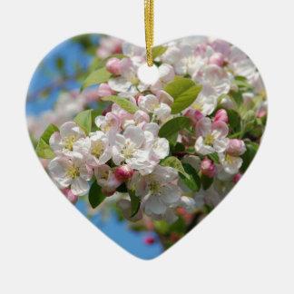 Crab apple blossom christmas ornament