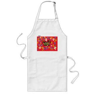 crab art long apron