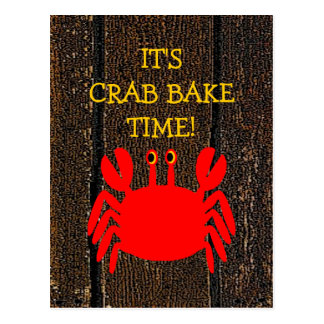 Crab Bake! Postcard