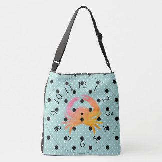 CRAB-BEACH-NO-TIME-SHOULDER-BAGS CROSSBODY BAG