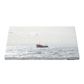 Crab Boat Amanda Jane Stretched Canvas Prints