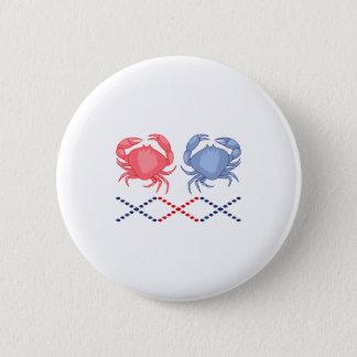 Crab Border 6 Cm Round Badge