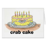 CRAB Cake Birthday Card
