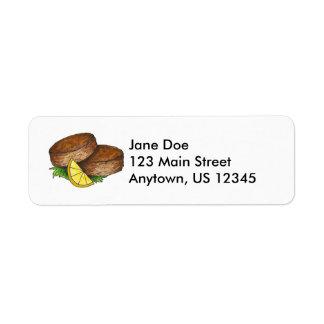 Crab Cake Return Address Labels