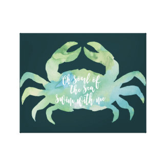 crab canvas artwork sealife seaside