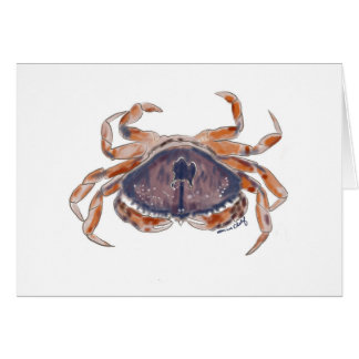 Crab card, blank inside card